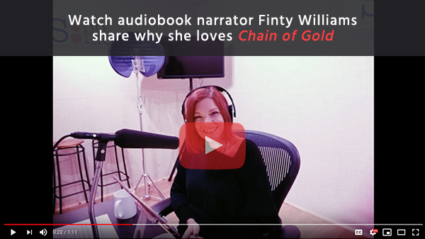 Watch audiobook narrator Finty Williams share why she loves Chain of Gold
